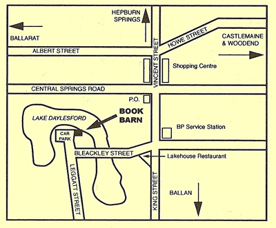 Bookbarn cafe map