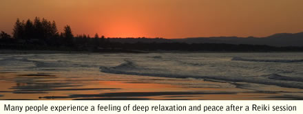 Reiki calms the mind like a sunset over a sea